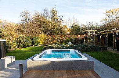 awesome pool halb eingelassen pictures. Black Bedroom Furniture Sets. Home Design Ideas